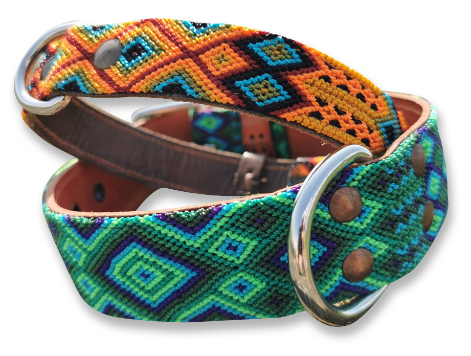 KINAKU Collars and dogs accesories handmade from Mexico Collar suytun becan