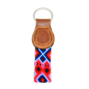 KINAKU Collars and dogs accesories handmade from Mexico KeyRing Akuma 1
